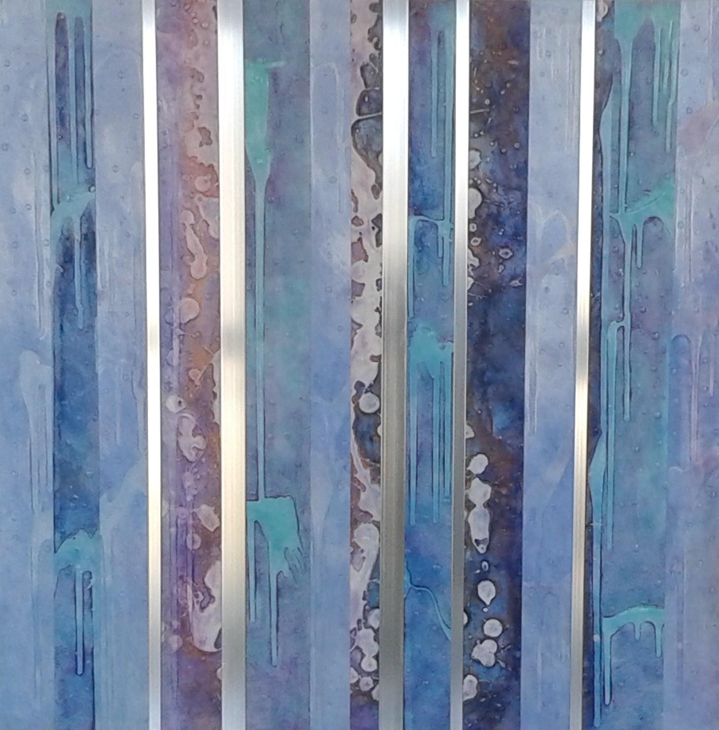 Tabl'Eau de source et ressource, 30po x 30po , art stratifié, acrylique/aluminium, 2016