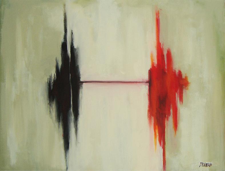 Dualité, Acrylique sur toile, 16po x20po, 2013