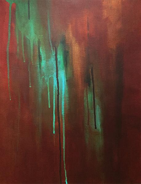 Oxyde, Acrylique sur toile, 12po x 16po, 2015