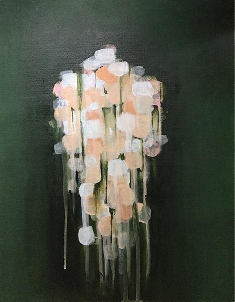 Paradis perdu, Acrylique sur toile, 12po x 16po, 2016