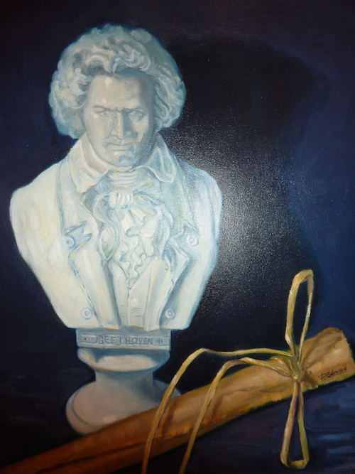 Beethoven, 20po x 16 po, Huile sur toile