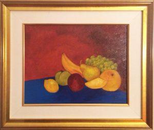 Fruits libres, huile,19po X 23 po