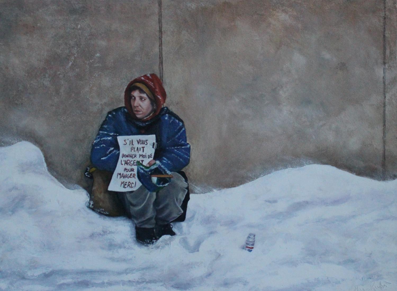 L'attente. Manon Ruffet, huile sur toile, 18 x24po, 2013