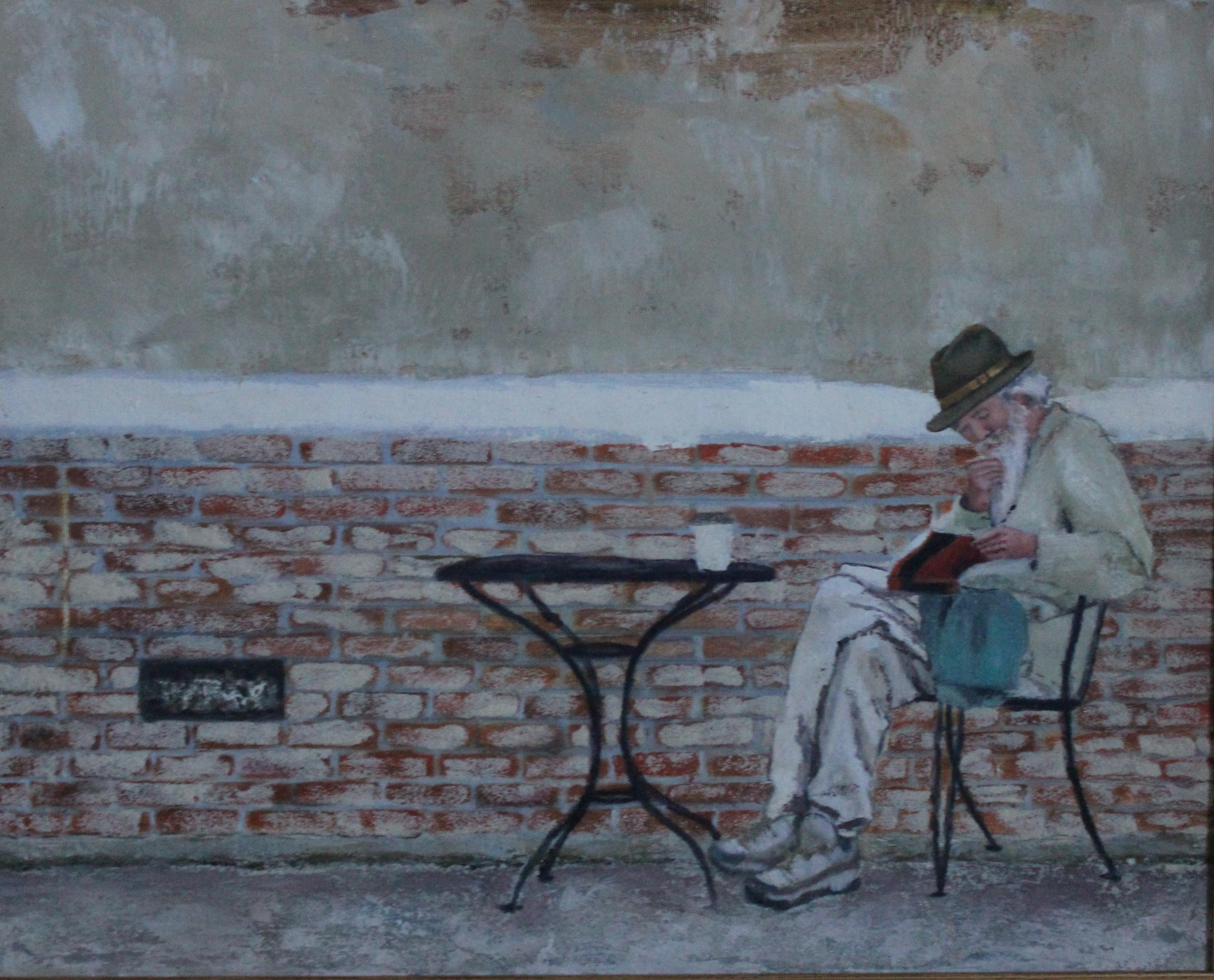 Le voyageur de Santa Cruz. Manon Ruffet, huile sur toile, 16 x 20 po, 2012