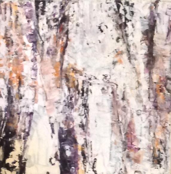 Les bouleaux couleur B , médium mixte