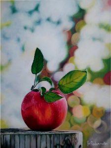 La face cachée de ma pomme- 18''x 24''- Acrylique sur toile