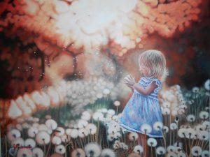 La forêt enchantée- 22'' x 36''- acrylique sur toile