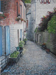Promenade à Durbuy-18 x 24-Acryllique sur toile