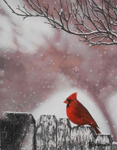 Magie hivernale-18'' x 24''- Acrylique sur toile(2)