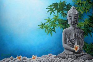 Moments zen-24'' x 36''- acrylique sur toile