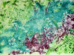 Rivière, 9 po x 12 po, Aquarelle sur papier Yupo
